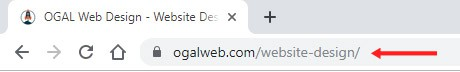 page specific URL