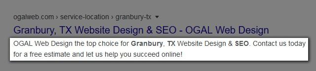 Meta Description in Google Search Results