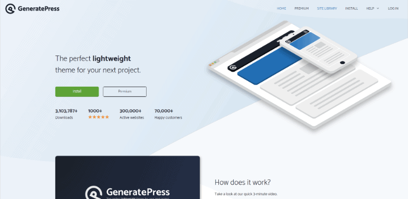 GeneratePress is perfectly paired with Elementor